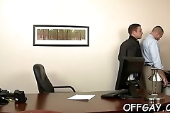 Business partners share anal job moments at the office
