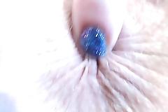 Chipped Fingernail Polish Closeups And Glass Dildo Orgasm