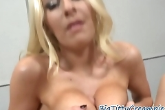 Glam milf tittyfucking a throbbing cock