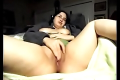 Playing with my pussy while husband is gone. [Part 1]