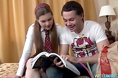 Horny Schoolgirl Gets the Pecker