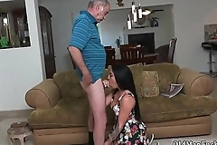 Girl fucks step daddy first time Frannkie'_s a hasty learner!