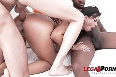 Busty Slut Chloe Lamour Rough Fucking &amp_ Double penetration