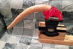 Homemade MONSTER vibrating dildo. Can you handle this beast?