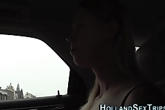 Real hooker rides cock
