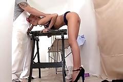 British Beauty Sienna Day Sucks Her Bosses cock Dry