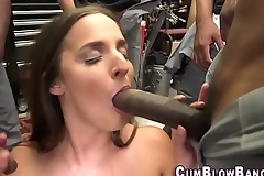 Whore blowbangs big cocks