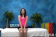 Gorgeous sexy gets naked for her sexual massage