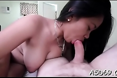 Thai girl takes off her raiment and undies to go hardcore