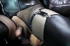 Huge dilldo anal masturbation with Hung