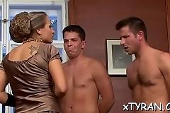 Hardcore femdom fetish with dude'_s arse spanked and toyed