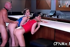 Large ass playgirl gets pants ripped and fucked hard doggystyle