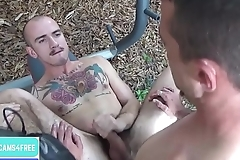 Two sexy tattoed men fuck each other, continue at gaycams4free.com
