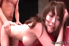 Arousal kiss making Akari Minamino have a nice sex
