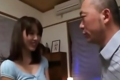 Japanese family threesome with son and daughter in law