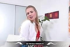 Wetandpuffy - Violette In Red - Wet Pussy