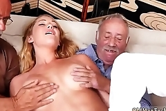 Old guy forces young girl and nick outdoors She was in a desperate