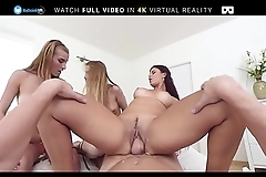BaDoink VR Foursome With Three College Sluts VR Porn