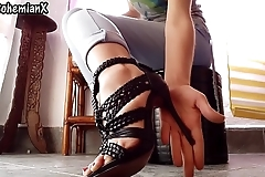 My new High Heel Sandal are perfect for you to Worship them