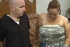 Man fingers and fucks luscious love tunnel of one nasty fat woman