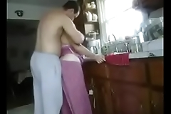 Kitchen son Mom fuck
