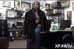 Sexy harlot does not shy away from having sex in shop