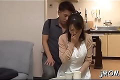 Excited mature takes it from behind and gets her wazoo jizzed