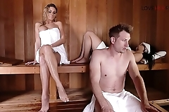 Loveherfeet Naughty perfect blonde Jessa Rhodes'_s sneaky foot sex with stranger behind GF'_s back in the sauna