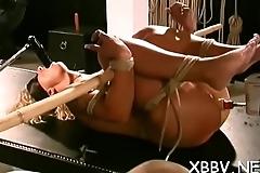 Dilettante gets pussy ravished during breast thraldom xxx