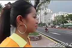 Voluptuous asian sex doll boasts of her wang riding skills