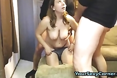 First Time Fucking Two Guys And She Is So Afraid!