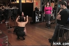 Defiant gal punished and fucked in tough inescapable bondage.