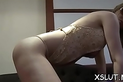 Foxy brunette with fat ass facesiting compliant stud lustfully