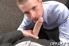 Office dudes love having anal sex together during intensive xxx