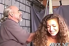 Woman endures enormous bondage sex at home in dilettante video