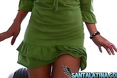 Chica de tinder decide hacer un video porno para Santalatina
