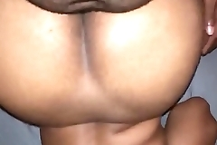 Chubby Chocolate Babe Taking It From Behind