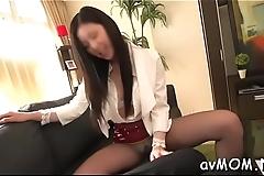 Milf hottie with perky tits sucks on big knob and fucked hard