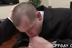 Males in suits delight with a complete gay porn play