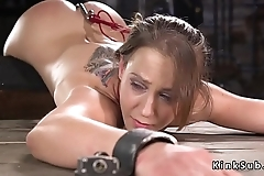 In device bondage slave fucked with dildo