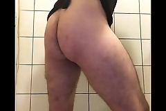 Sissy twerking and striping in chastity