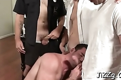 Steamy homo blokes in crazy anal group scenes on the daybed
