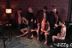 Gay men love fucking in the ass in such hard scenes of gang bang