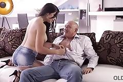OLD4K. Hot latina chooses experienced men