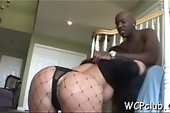 Big tittied darksome woman drilled hard by her ebony boyfriend