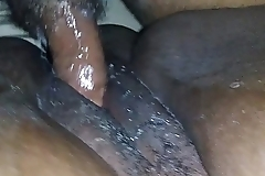 Super Wet black bbw pussy close up
