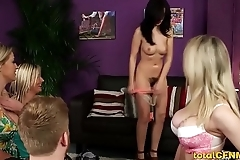 Four stunners tease one guy