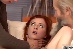 Little old and big as mom fucked Unexpected experience with an older
