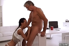 Little old man His grey hair drives Liliane naughty - her vagina was