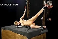 Shy girl stripped